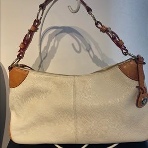 Dooney & Bourke White & Natural Leather Purse